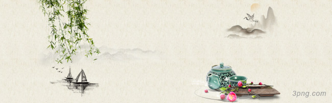 中国风海报背景高清大图-风海背景Banner海报