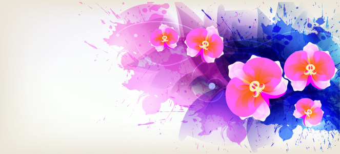 水彩花卉banner背景