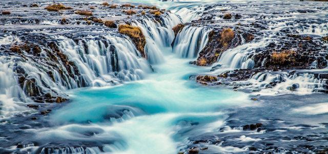 河流瀑布背景高清背景图片素材下载