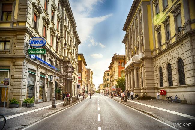 意大利小镇街景背景高清大图-意大利背景城市建筑