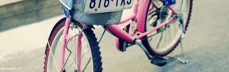 清新自行车海报背景