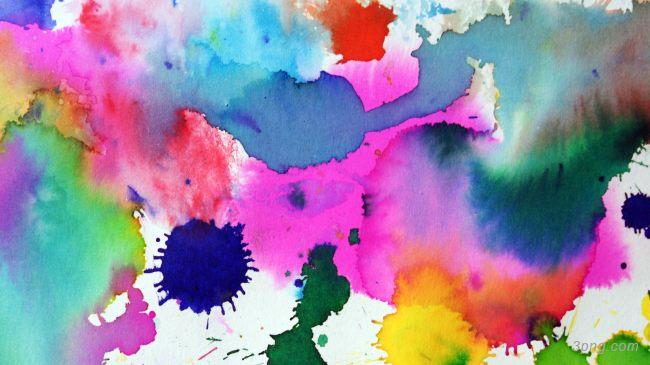 彩色泼墨高清背景背景高清大图-泼墨背景自然/风光