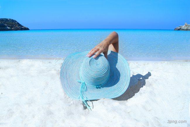 沙滩休闲度假背景高清大图-休闲度假背景自然/风光