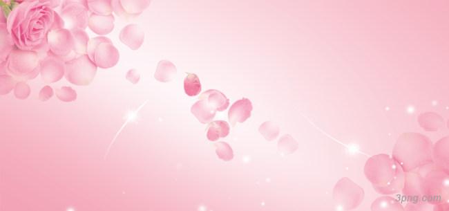 浪漫粉玫瑰花瓣背景背景高清大图-花瓣背景鲜花