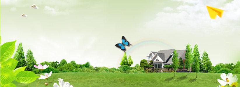 春季风景海报