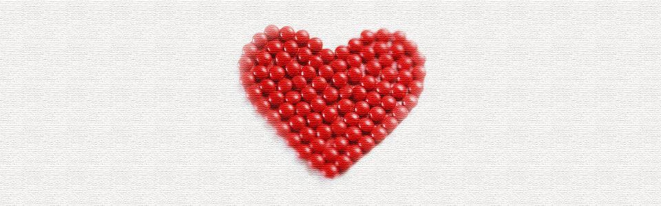 浪漫红色心形海报背景高清背景图片素材下载