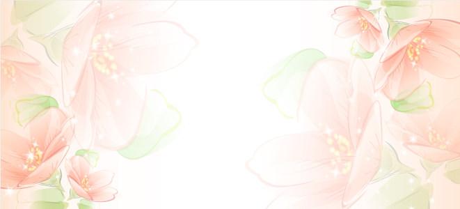 温馨浪漫手绘花朵海报背景