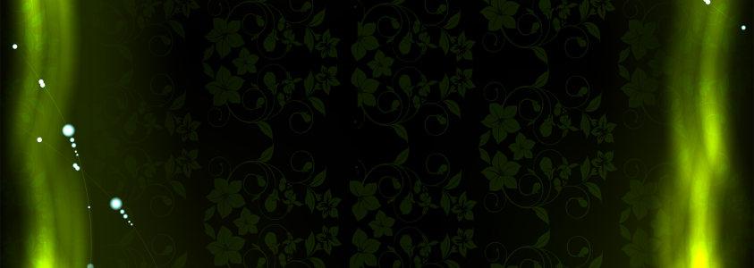 黑色花纹梦幻背景banner