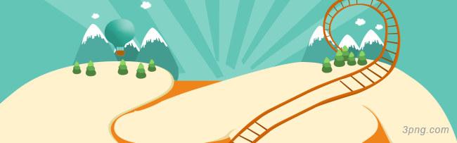 卡通淘宝界面设计背景高清大图-界面设计背景Banner海报
