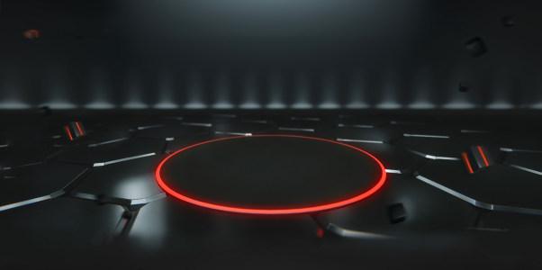 黑暗立体产品展示舞台背景