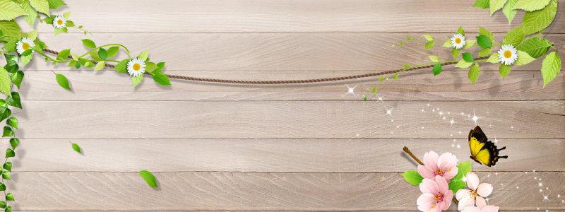 小清新木板背景