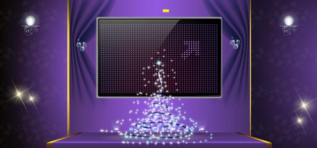紫色圣诞节背景
