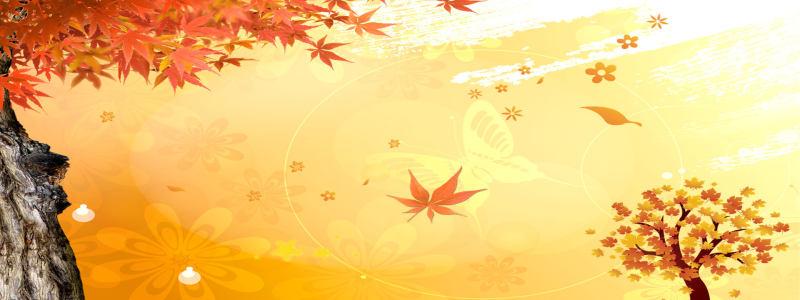 秋季背景海报