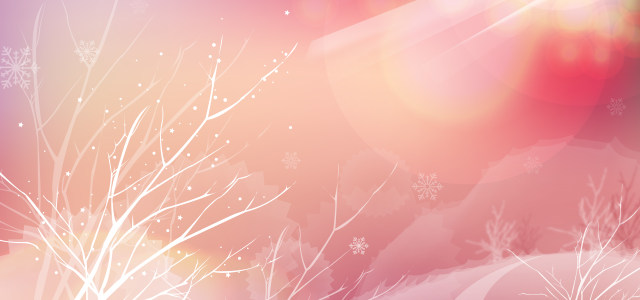 浪漫冬季雪景树木背景高清背景图片素材下载