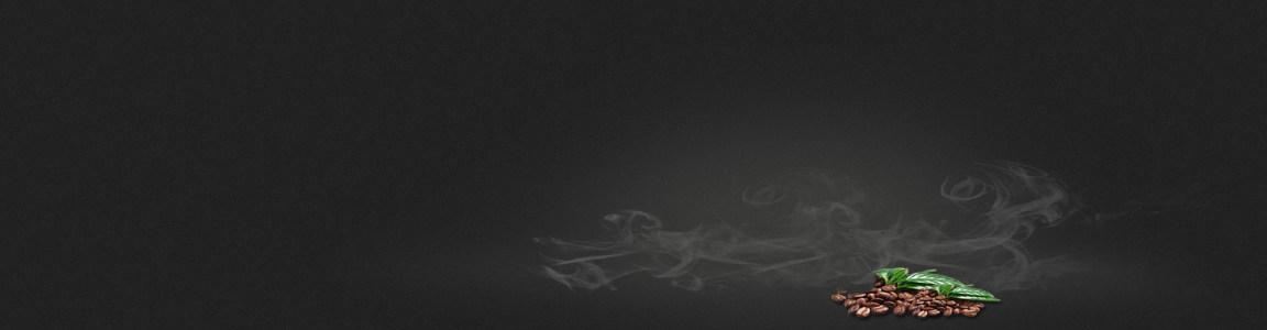 深色磨砂背景 咖啡 飘烟 banner高清背景图片素材下载