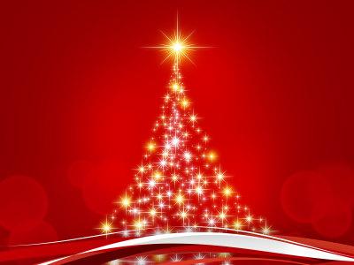 抽象的圣诞树背景