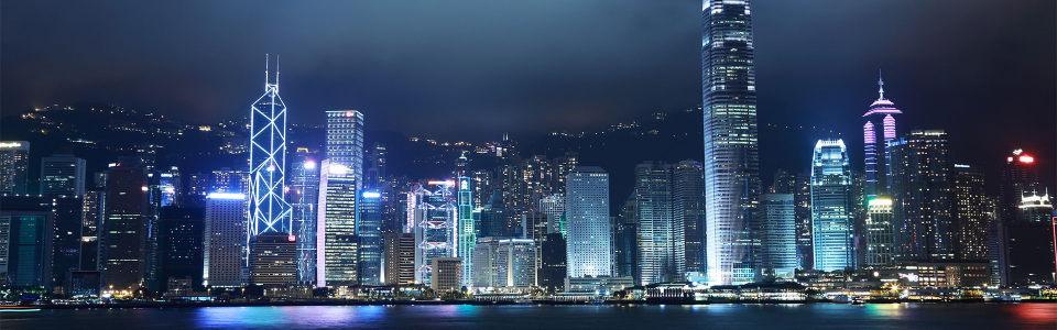 唯美大气都市夜景建筑群海报背景高清背景图片素材下载