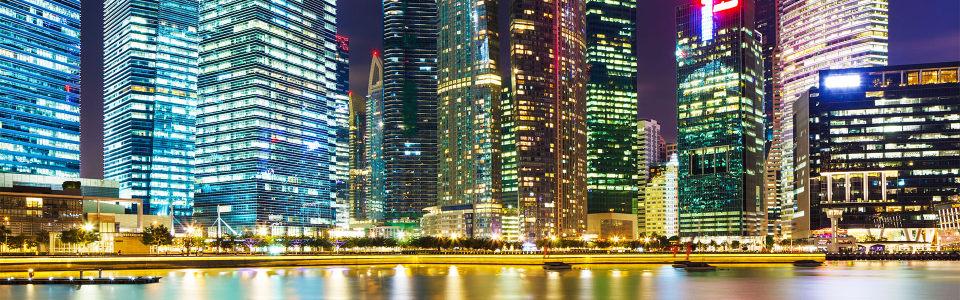 炫酷奢华都市美丽夜景海报背景高清背景图片素材下载