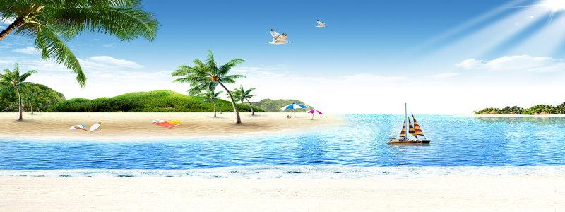 海边沙滩背景高清背景图片素材下载