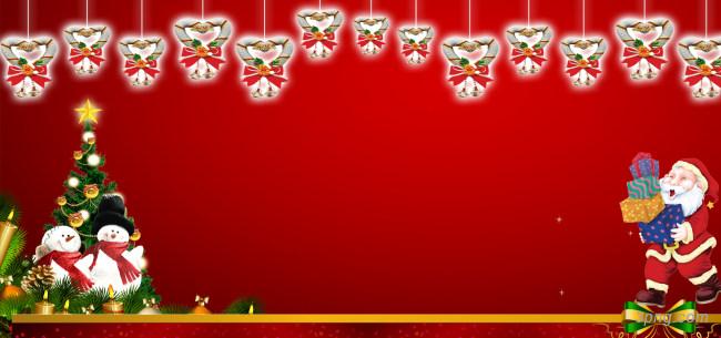 红色圣诞节背景背景高清大图-圣诞节背景底纹/肌理