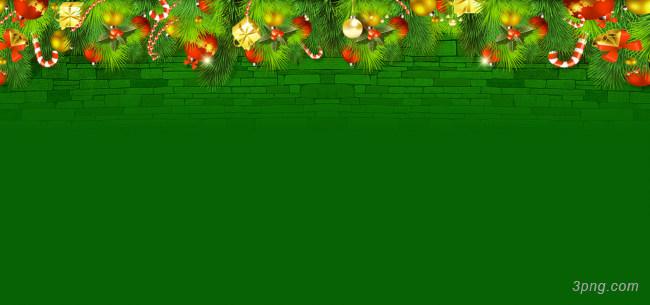 绿色圣诞节背景背景高清大图-圣诞节背景Banner海报