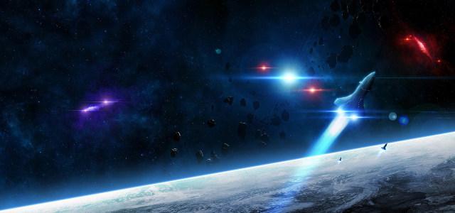 星空陨石太空飞船高清背景图片素材下载