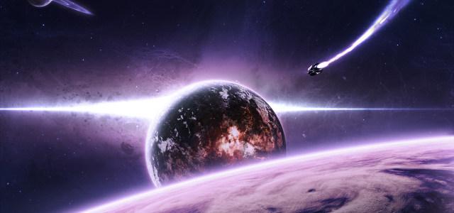 紫色科幻宇宙星空背景