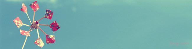 小风车banner创意设计背景高清大图-风车背景Banner海报