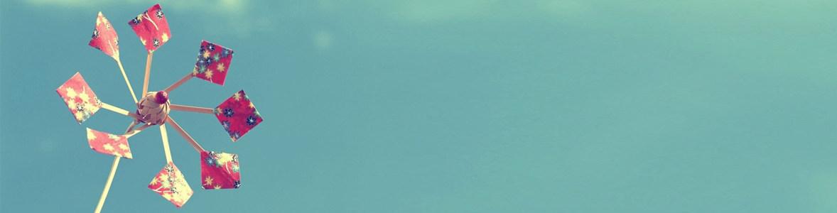 小风车banner创意设计高清背景图片素材下载
