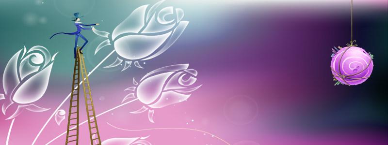 创意梦幻紫色背景
