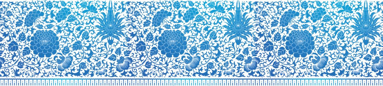 古典蓝色花卉花纹高清背景图片素材下载