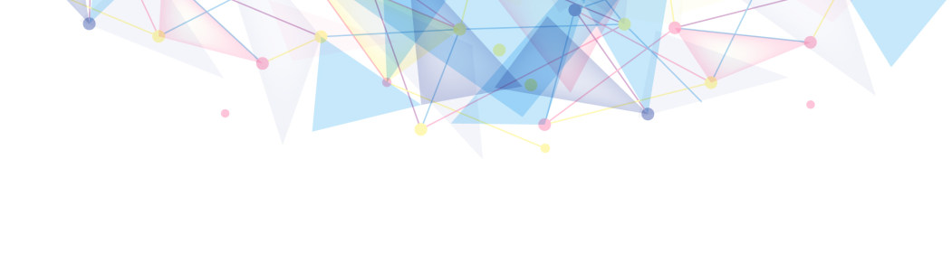 蓝色几何形banner背景