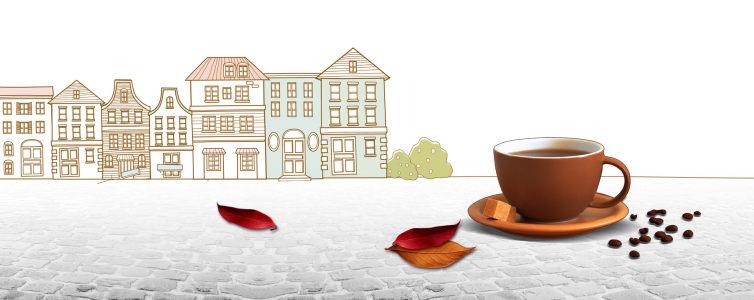 创意生活咖啡背景