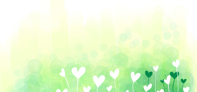 韩国清新植物插画背景banner
