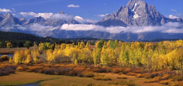 天空山峰树林高清背景图片素材下载