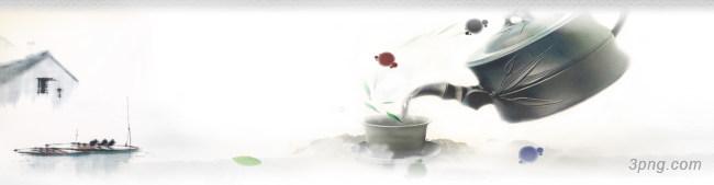 中国风古典茶叶文化网站PSD分层背景高清大图-文化网站背景Banner海报
