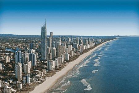 海边城市高清背景图片素材下载