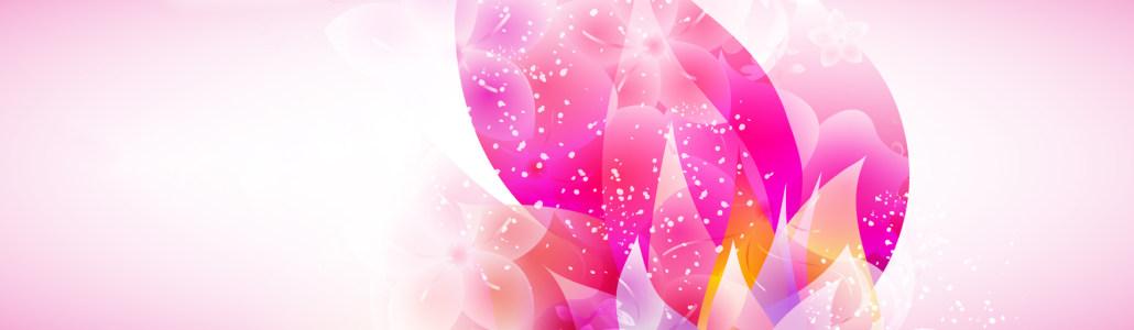粉色花卉背景banner