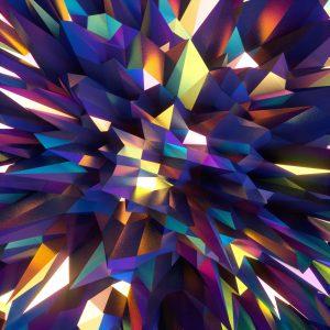 炫彩钻石几何背景
