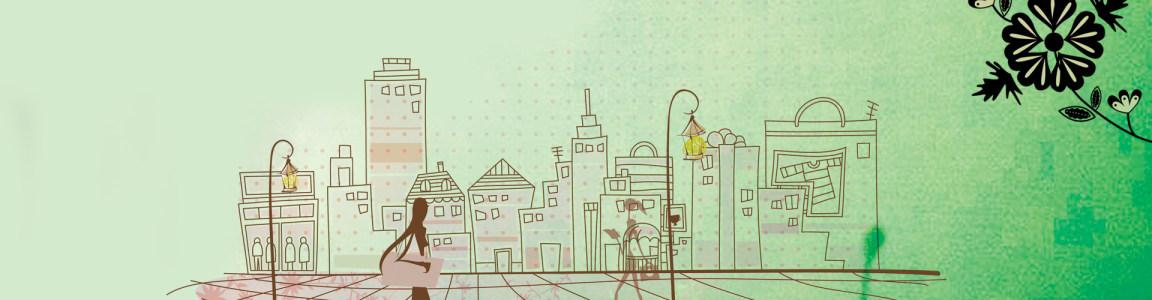 漫画房屋背景