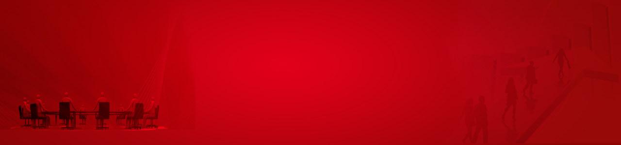 互联网科技红色背景banner