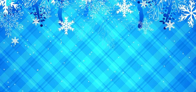 蓝色冰雪背景
