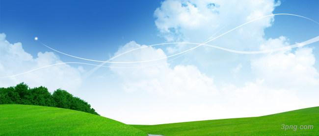 蓝色天空白云背景背景高清大图-蓝色天空背景城市建筑
