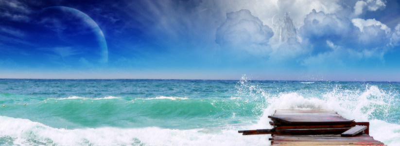 海洋壁纸高清背景图片素材下载