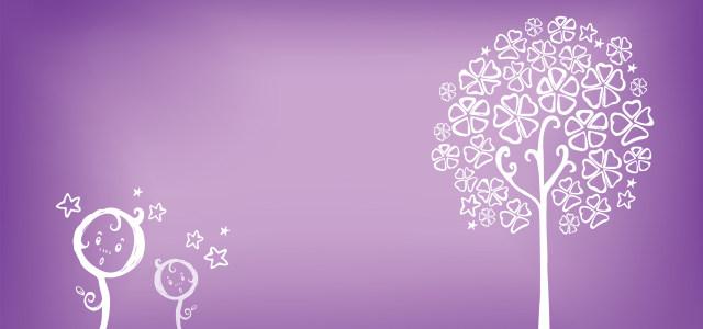 紫色浪漫树背景