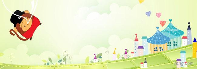 卡通背景背景高清大图-卡通背景卡通/手绘/水彩