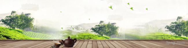 茶叶banner海报背景背景高清大图-茶叶背景底纹/肌理