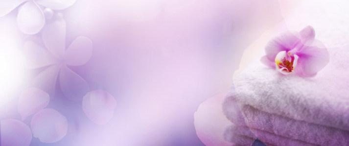 梦幻花朵海报背景