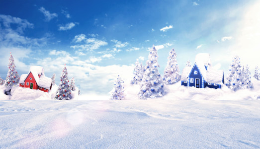 冬天雪地背景