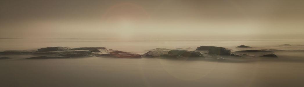 黑色奢华沙漠岩石背景banner高清背景图片素材下载